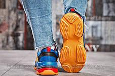 Кросівки жіночі 15366, Balenciaga Triple S, темно-сині, [ 36 ] р. 36-22,2 див., фото 3