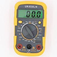Мультиметр кишеньковий універсальний Digital UK-830LN, підсвічування, захисний корпус