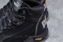 Зимние мужские кроссовки 31672, Puma G-Step, черные, [ 44 ] р. 40-26,5см., фото 3