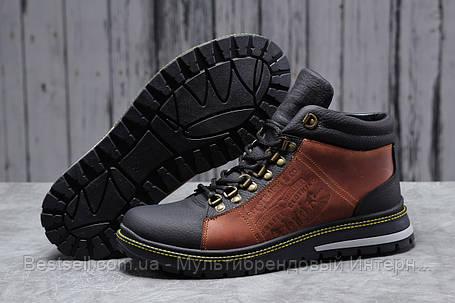Зимние мужские ботинки 31681, Levi's (мех), коричневые, [ нет в наличии ] р. 43-28,6см., фото 2
