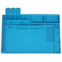 Силіконовий килимок для пайки 318*480мм Kaisi S-170, термостійкий мат, з магнітними осередками