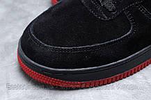 Зимові чоловічі кросівки 31734, Nike Air AF1 (хутро), чорні, [ немає ] р. 43-27,6 див., фото 3