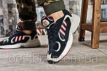 Кросівки чоловічі 15514, Adidas Yung 1, темно-сині, [ немає ] р. 42-26,5 див., фото 2