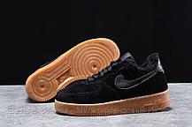 Зимние женские кроссовки 31741, Nike Air AF1 (мех), черные, [ 38,5 ] р. 36-23,0см., фото 2