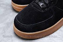 Зимние женские кроссовки 31741, Nike Air AF1 (мех), черные, [ 38,5 ] р. 36-23,0см., фото 3
