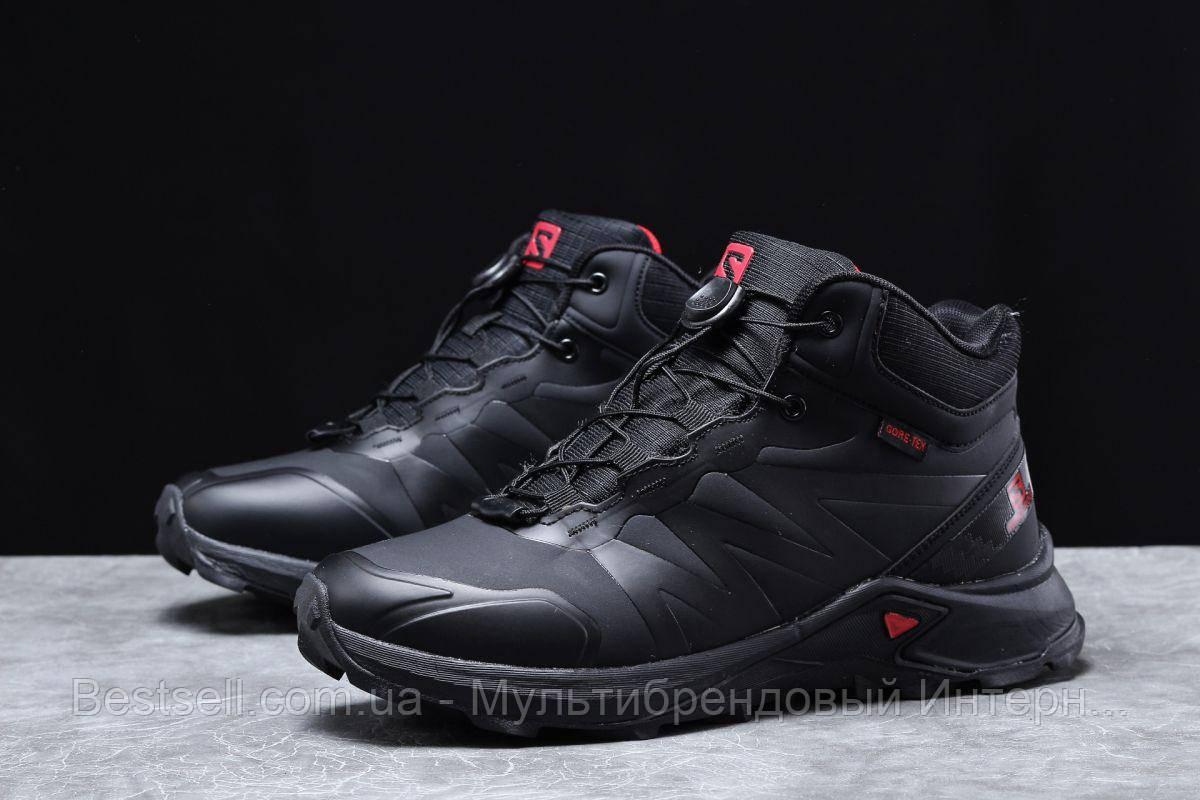 Зимние мужские кроссовки 31763, Solomon SuperCross, черные, [ нет в наличии ] р. 41-26,4см.