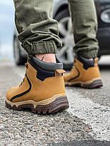 Зимові чоловічі черевики 31843, Camel (на хутрі, в коробці), пісочні, [ 41 43 44 ] р. 41-27,0 див., фото 2