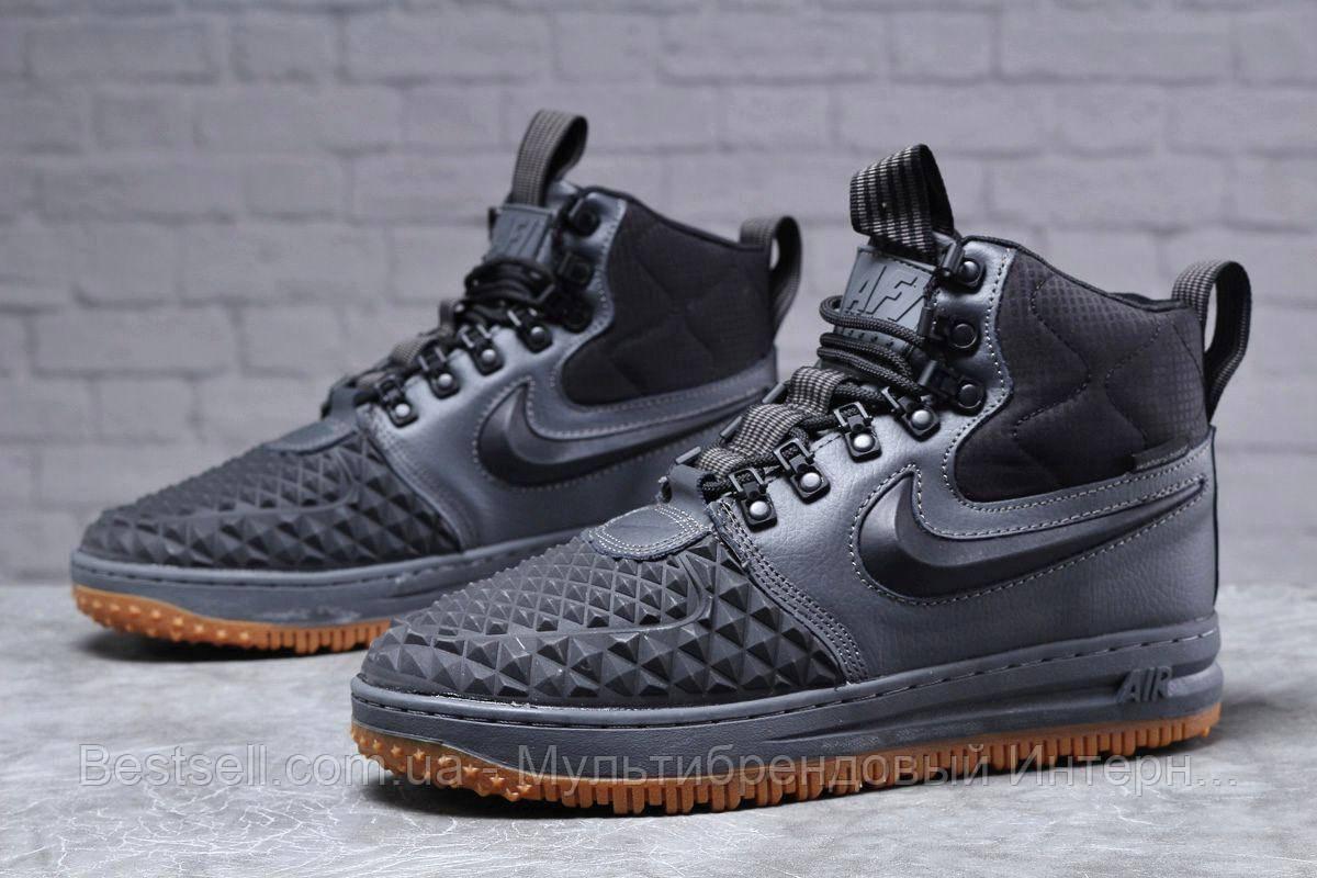Зимові чоловічі черевики 31851, Nike LF1 Duckboot (TOP AAA), темно-сірі, [ немає ] р. 41-26,4 див.