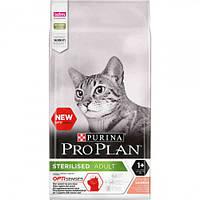 Сухой корм Purina Pro Plan Cat Sterilised Salmon для стерилизованных кошек, с лососем, 3 кг