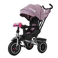 Детский трёхколёсный велосипед Cayman, «Tilly» (T-381/7), цвет Purple (фиолетовый в льне)