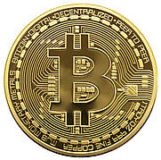 Опт Сувенирная монета Биткоин (Bitcoin) - Золото