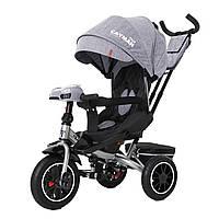 Детский трёхколёсный велосипед Cayman, «Tilly» (T-381/7), цвет Grey (серый в льне)