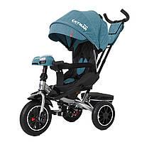 Детский трёхколёсный велосипед Cayman, «Tilly» (T-381/7), цвет Azure (бирюзовый в льне)
