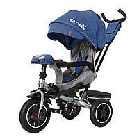 Детский трёхколёсный велосипед Cayman, «Tilly» (T-381/7), цвет Blue (синий в льне)