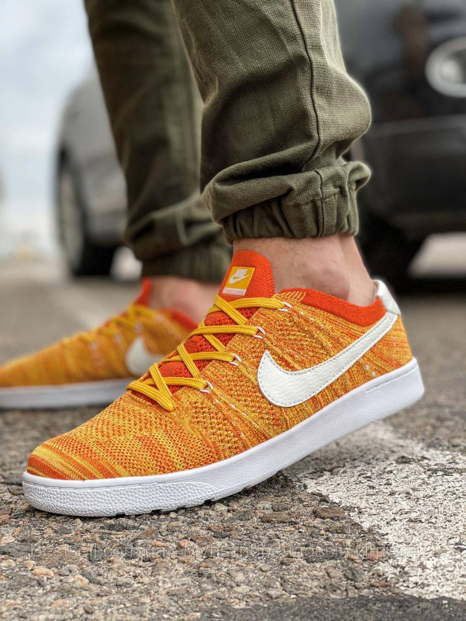 Кроссовки мужские 18082, Nike Tennis Classic Ultra Flyknit, оранжевые, [ 41 42 43 45 ] р. 41-26,5см.