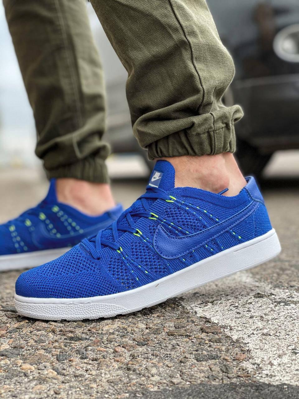 Кросівки чоловічі 18083, Nike Tennis Classic Ultra Flyknit, темно-сині, [ 41 42 43 44 45 ] р. 41-26,5 див.