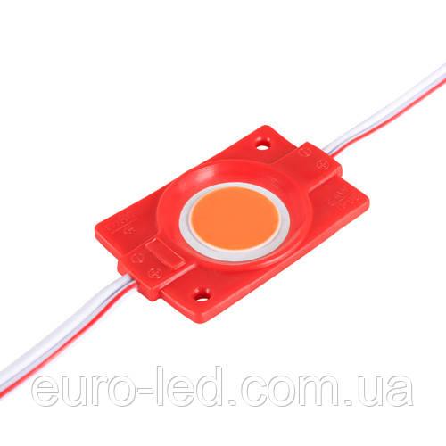 Світлодіодний модуль BRT COB 2.4 W круглий RED, 12В, IP65 червоний