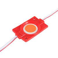 Світлодіодний модуль BRT COB 2.4 W круглий RED, 12В, IP65 червоний, фото 1