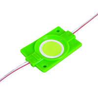 Светодиодный модуль BRT COB 2.4W круглый GREEN, 12В, IP65 зеленый