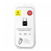 Перехідник Baseus Micro USB Type-C 2.4 A (CAMOTG-01)