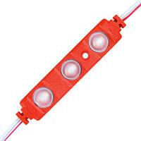 Светодиодный модуль BRT XG191 5630-3 led W 1,5W RED, 12В, IP65 красный с линзой полусфера
