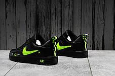Кроссовки женские 16694, Nike Air Force 1, черные, [ 36 37 38 ] р. 36-22,5см., фото 3