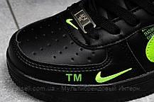 Кроссовки женские 16694, Nike Air Force 1, черные, [ 36 37 38 ] р. 36-22,5см., фото 2