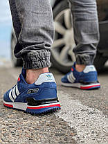 Кроссовки мужские 18161, Adidas ZX 750, темно-синие, [ 44 46 ] р. 44-28,5см., фото 2
