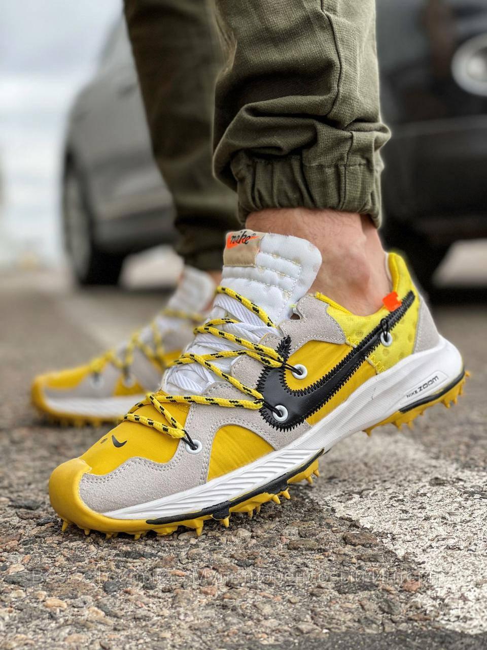 Кросівки чоловічі 16722, Nike Air Zoom, жовті, [ 42 43 ] р. 42-26,0 див.