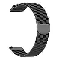 Магнитный ремешок Milanese Loop для Huawei Watch GT 2e 46 mm (HCT-B19)   DK   22 мм   черный