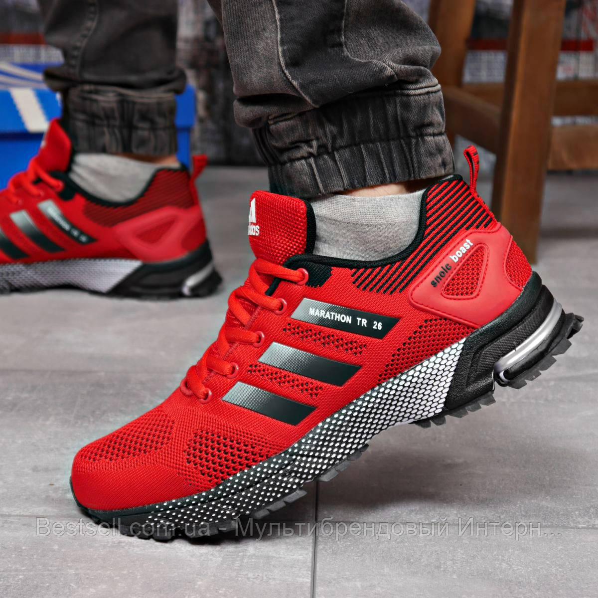 Кроссовки мужские 18222, Adidas Marathon Tr 26, красные, [ 44 ] р. 43-28,0см.