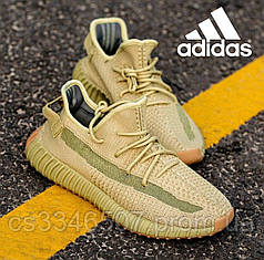 Мужские кроссовки Adidas Yeezy 350 V2 Sulfur 40-45 р. Кроссовки жёлтые Адидас Изи 350