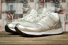 Кроссовки женские 16830, New Balance 574, серебряные, [ 39 40 ] р. 39-24,8см., фото 2