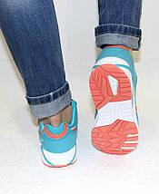 Кроссовки женские бирюзовые ASICS текстиль реплика, фото 3
