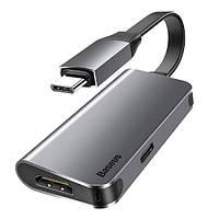 Конвертер сигнала Baseus Type C - HDMI 4K + Type C PD*1 (CAHUB-EOG)