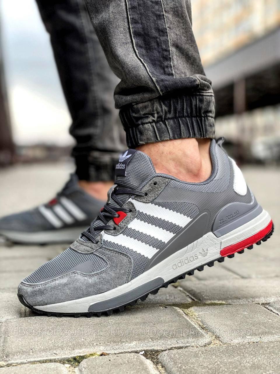 Кросівки чоловічі 18283, Adidas Zx 700 HO, сірі, [ 42 43 44 45 ] р. 41-26,0 див.