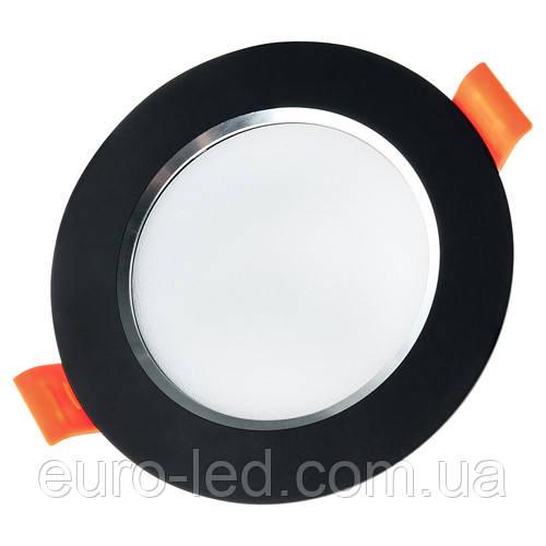 Светильник светодиодный Biom DF-6B 6Вт черный круглый 5000К