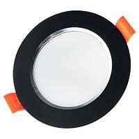 Светильник светодиодный Biom DF-6B 6Вт черный круглый 5000К, фото 1