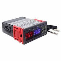 Терморегулятор STC-3008 двухзонный -55-120 С, +/-1 С, 220V, 10A, OEM