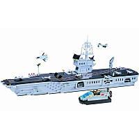 Конструктор корабль класса Авианосец – впечатляющая игрушка, 990 деталей