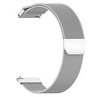 Магнитный ремешок Milanese Loop для Huawei Watch GT 2e 46 mm (HCT-B19)   DK   22 мм   серебристый
