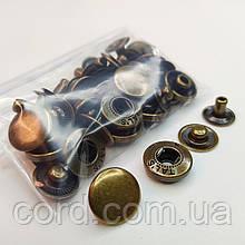 Кнопка 15 мм металлическая (Альфа). Упаковка (10шт.) антик.