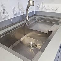 Кухонная стальная мойка Platinum Handmade 8245 L HD-D013