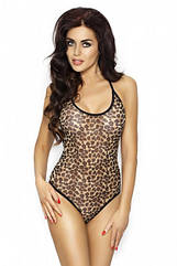 Женское боди Passion NINA BODY XXL XXXL Леопард EL13103, КОД: 1115810