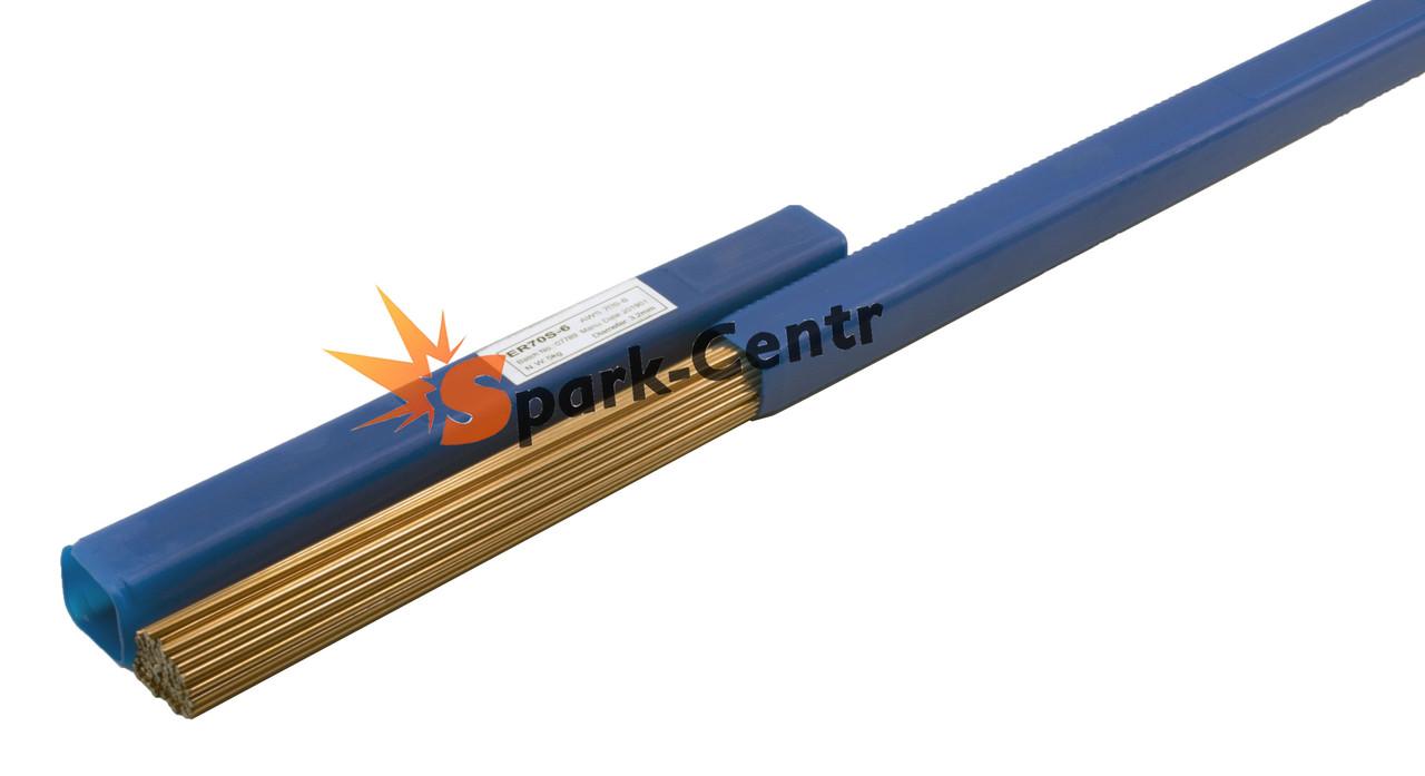 Пруток омедненный Ø 3,2 мм ER70S-6 для сварки низкоуглеродистых и низколегированных сталей (упаковка 1,0 кг)