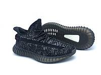 Кроссовки женские черные в стиле Adidas Yeezy, Изи, текстиль, сетка, летние/весенние женские кроссовки