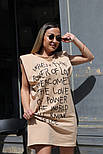 Сукня жіноча з принтом двухнить Оверсайз, фото 4