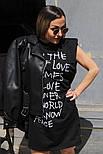 Сукня жіноча з принтом двухнить Оверсайз, фото 8
