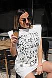Сукня жіноча з принтом двухнить Оверсайз, фото 3