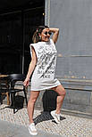 Сукня жіноча з принтом двухнить Оверсайз, фото 2